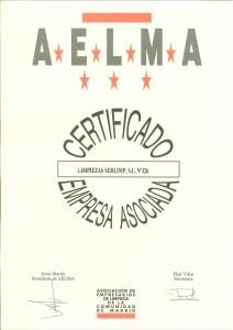 Certificado AELMA